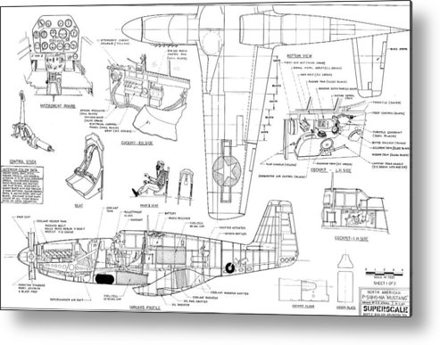 North American Mustang P51-b Schematic Diagram Metal Print by John on p-38 schematic, p-51d schematic, f-4 schematic, p-51b schematic, aircraft schematic, b-36 schematic, b-17 schematic, kc-135 schematic, b-25 schematic, f-16 schematic, p-11 schematic, dc-3 schematic,