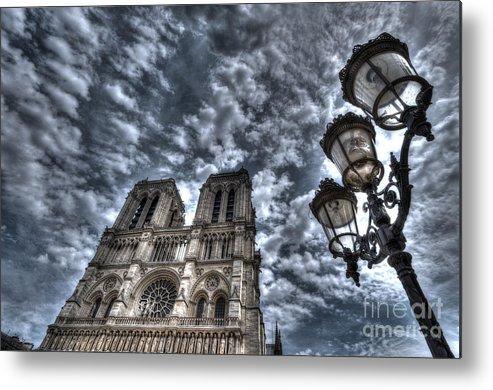 Notre Metal Print featuring the photograph Notre Dame De Paris by Colin Woods