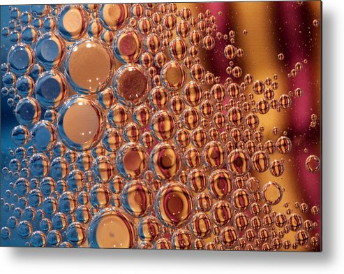 Oil Metal Print featuring the photograph Oil And Water by Steve ODonnell