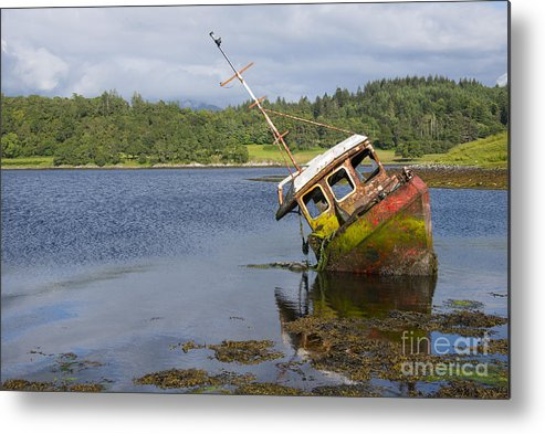 Loch Metal Print featuring the photograph Old Boat In The Loch by Rob Hawkins