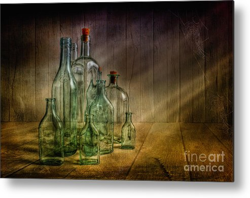 Art Metal Print featuring the photograph Old Bottles by Veikko Suikkanen