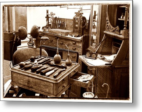 Dental Office Metal Print featuring the photograph Old Dentistry by Julie Palencia