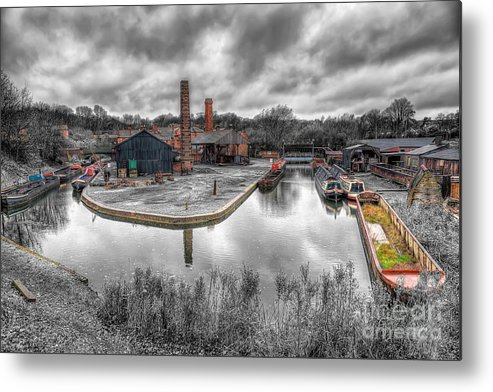 Architecture Metal Print featuring the photograph Old Dock by Adrian Evans
