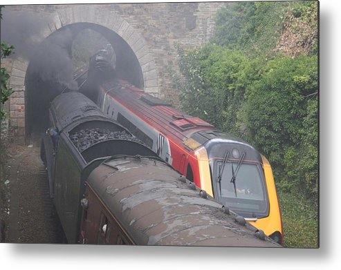 Trains Metal Print featuring the photograph Old Meets New. by Christopher Rowlands