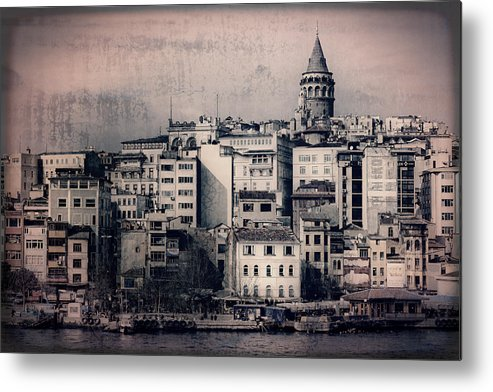 Galata Tower Metal Print featuring the photograph Old New District by Joan Carroll