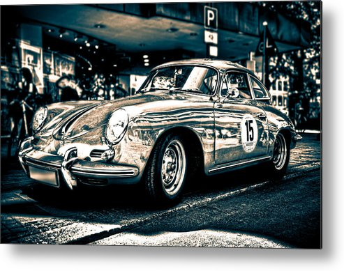 Porsche Metal Print featuring the photograph Old Porsche No.3 Toned by Wolfgang Simm