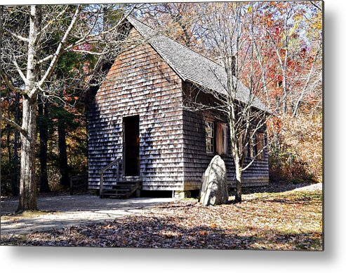Antique Metal Print featuring the photograph Old Schoolhouse Building by Susan Leggett