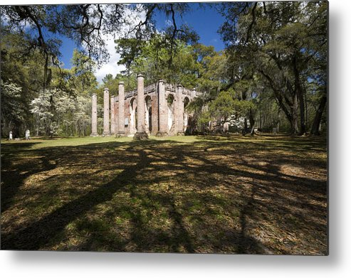 Architecture Metal Print featuring the photograph Old Sheldon Church by Eggers Photography