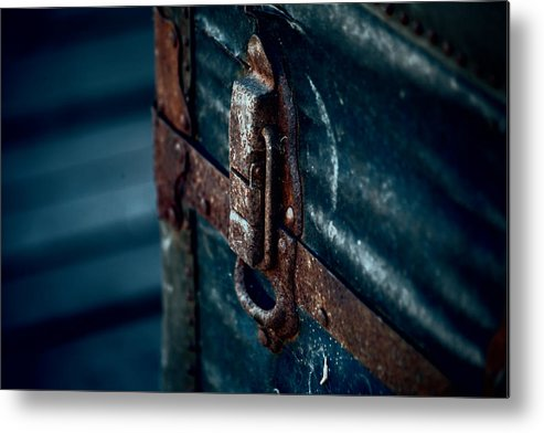 Steamer Trunk Metal Print featuring the photograph Old Steamer Trunk II by Bonnie Bruno