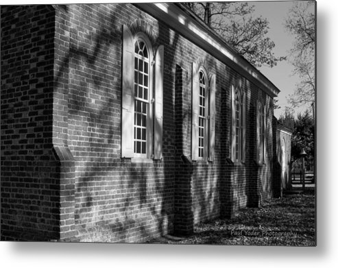 Maryland Metal Print featuring the photograph Old Wye Church Wye Mills by Paul Yoder