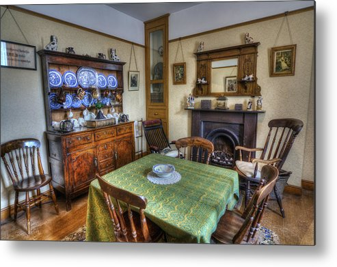Table Metal Print featuring the photograph Olde Dining Room by Ian Mitchell