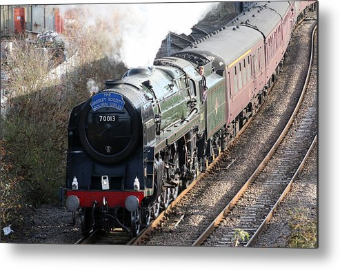 Steam Metal Print featuring the photograph Oliver Cromwell Arrives In Lincoln by Tim Senior