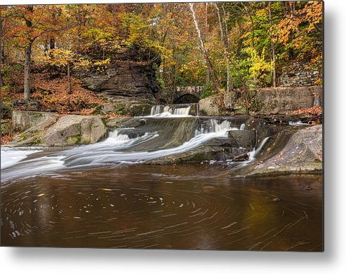 Landscape Metal Print featuring the photograph Olmstead Falls by Dale Kincaid