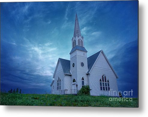 Blue Metal Print featuring the photograph On Hallowed Ground by Beve Brown-Clark Photography