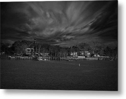 Black And White Metal Print featuring the photograph On The Other Side... by Mario Celzner