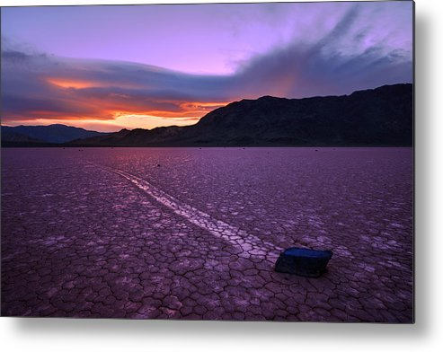 Death Valley Metal Print featuring the photograph On The Playa by Chad Dutson