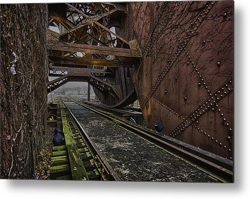 Cleveland Metal Print featuring the photograph On The Rails by Kris Rowlands