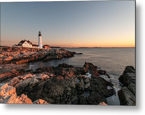 Lighthouse Metal Print featuring the photograph On The Rocks by Denis Therien