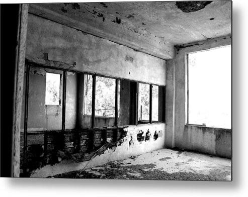 Open Metal Print featuring the photograph Open Concept Bw by Elizabeth Sullivan