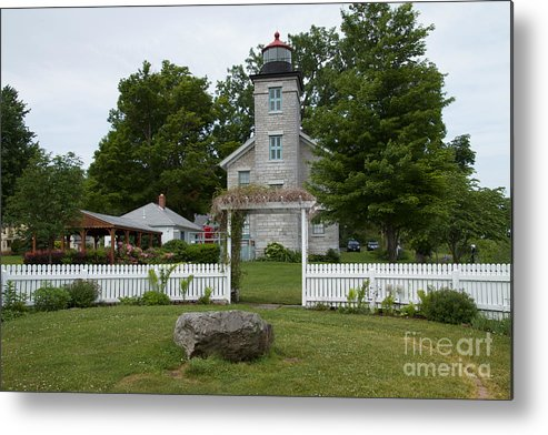 Sodus Metal Print featuring the photograph Original Lighthouse Site by William Norton
