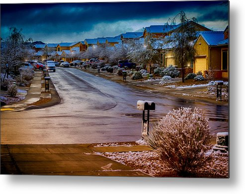 Myhaver Photography Metal Print featuring the photograph Oro Valley Winter No.54 by Mark Myhaver