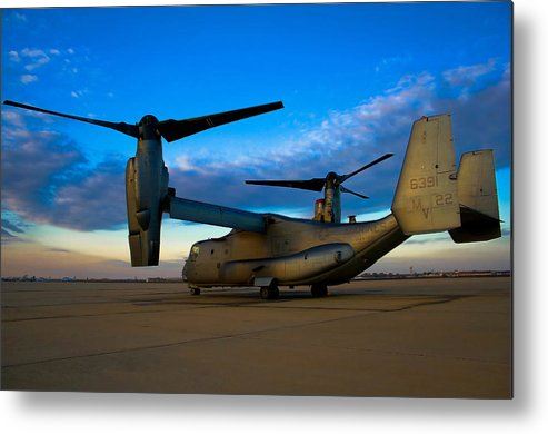 V22 Metal Print featuring the photograph Osprey Sunrise Series 1 Of 4 by Ricky Barnard