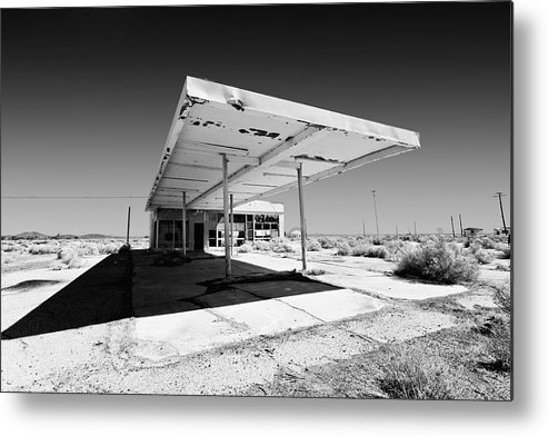 Gas Station. Service Station Metal Print featuring the photograph Out Of Gas by Peter Tellone