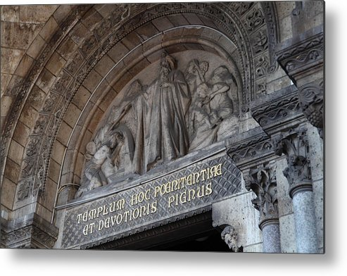 And Metal Print featuring the photograph Outside The Basilica Of The Sacred Heart Of Paris - Sacre Coeur - Paris France - 011312 by DC Photographer