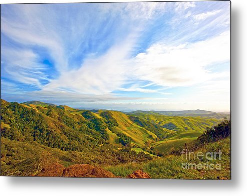 Morro Bay Metal Print featuring the photograph Overlooking Morro Bay Ca by Artist and Photographer Laura Wrede