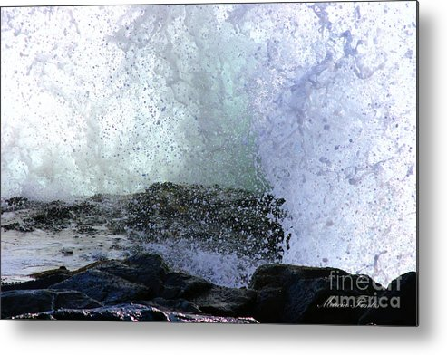 Coastal Photos Metal Print featuring the photograph Pacific Ocean Wave Splash by Tap On Photo