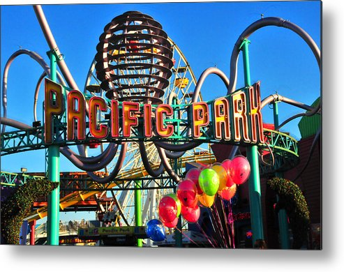 Pacific Metal Print featuring the photograph Pacific Park On The Pier by Lynn Bauer