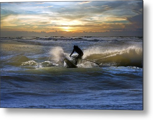 Paddleboard Metal Print featuring the photograph Natutical Jesus by Betsy Knapp