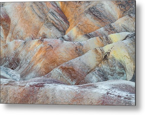 Death Valley Metal Print featuring the photograph Painted Hills In Death Valley by Larry Marshall