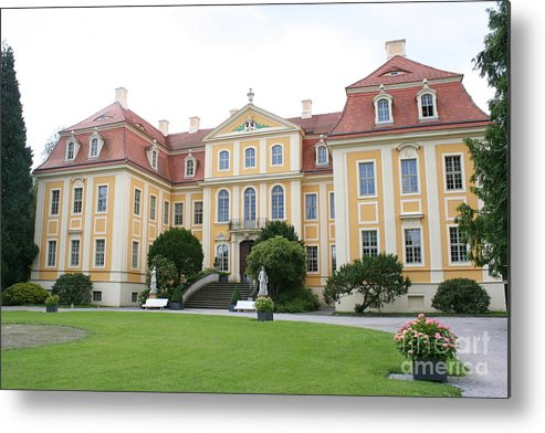 Palace Metal Print featuring the photograph Palace Rammenau - Germany by Christiane Schulze Art And Photography