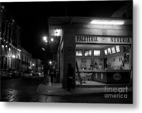 Landscape Metal Print featuring the photograph Paleteria-neveria by Mychelle Tremblay
