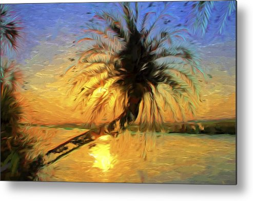 Palm Tree Metal Print featuring the photograph Palm Beauty by Alice Gipson
