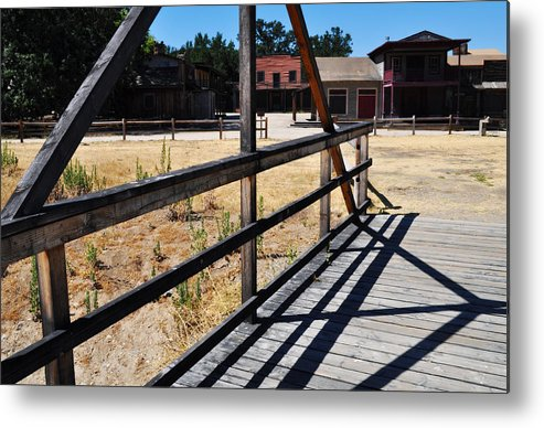 Paramount Ranch Metal Print featuring the photograph Paramount Ranch Bridge by Kyle Hanson