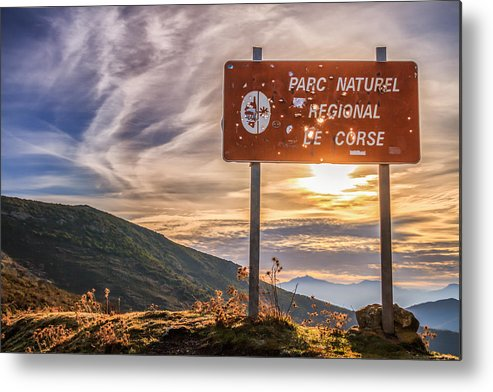 Balagne Metal Print featuring the photograph Parc Natural De Corse In The Balagne Region Of Corsica by Jon Ingall
