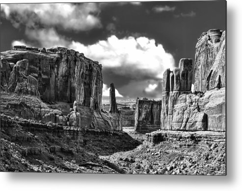 Utah Metal Print featuring the photograph Park Avenue In Arches National Park by Betty Eich