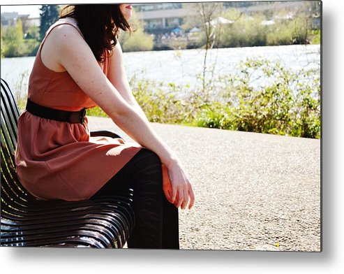 Park Metal Print featuring the photograph Park Bench by Tess Cummings