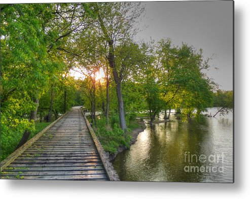 Illinois Metal Print featuring the photograph Path To Infinity by Deborah Smolinske