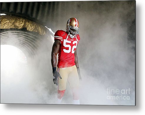 Patrick Willis Metal Print featuring the digital art Patrick Willis by Marvin Blaine