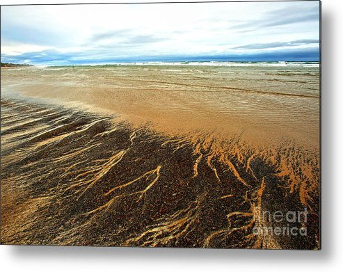 Agate Beach Oregon Metal Print featuring the photograph Patterns In The Tides by Artist and Photographer Laura Wrede