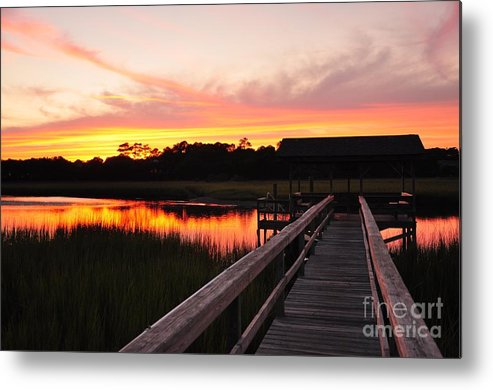 Pawleys Metal Print featuring the photograph Pawley's Island Sc by Chris White