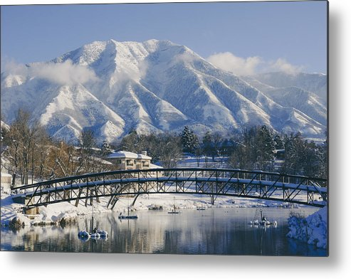 Snow Metal Print featuring the photograph Peace Scene by Gloria Pasko