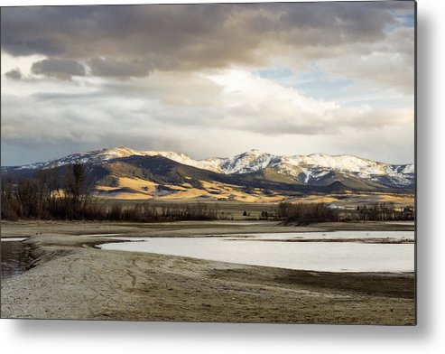 Mountains Metal Print featuring the photograph Peaceful Day In Helena Montana by Dana Moyer