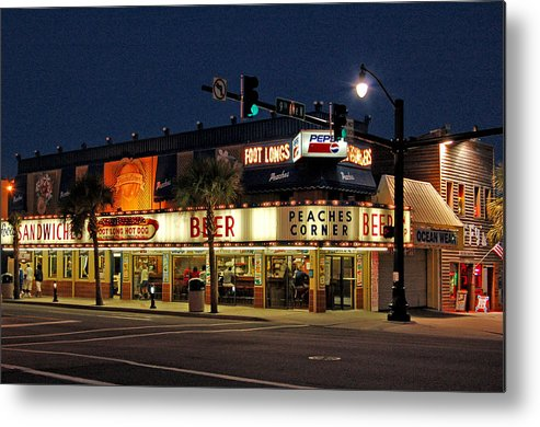 Peaches Corner Metal Print featuring the photograph Peaches Corner by Suzanne Gaff