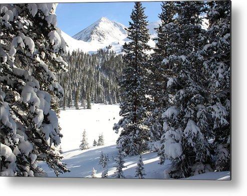 Colorado Metal Print featuring the photograph Peak Peek by Eric Glaser