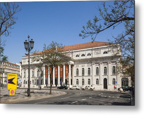 Ancient Metal Print featuring the photograph Pedro Iv Square Best Known As Rossio Square by Andre Goncalves