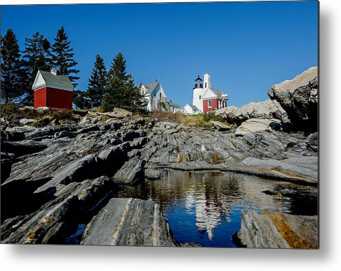 Pemaquid Metal Print featuring the photograph Pemaquid Point Reflections by Corey Ann Balazowich